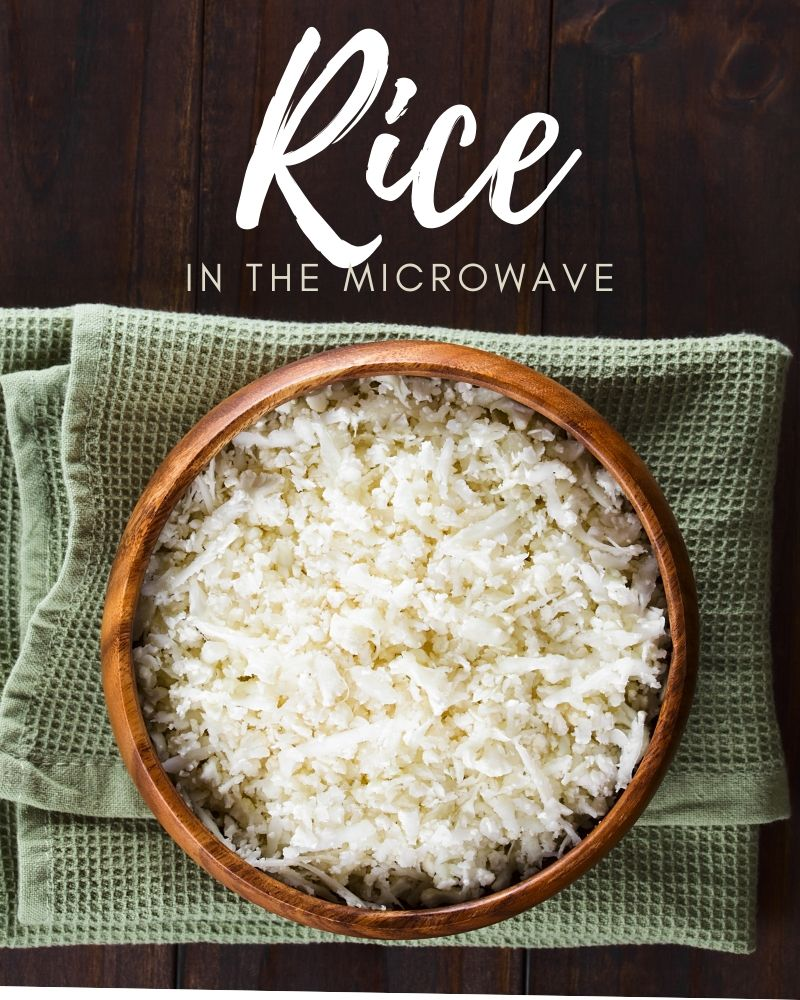 how to microwave rice