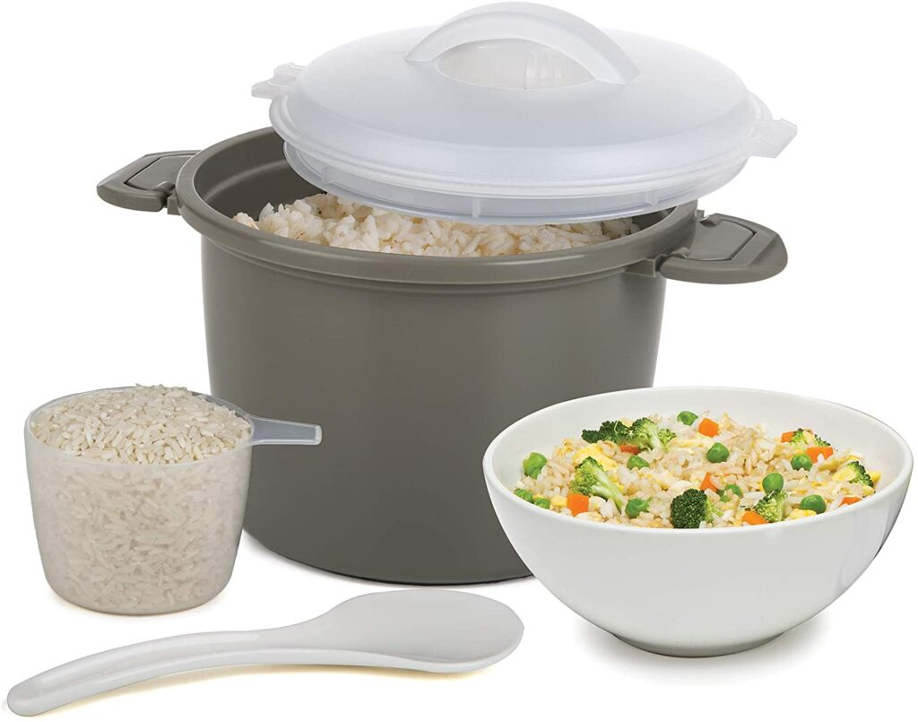 cookware to cook rice in microwave