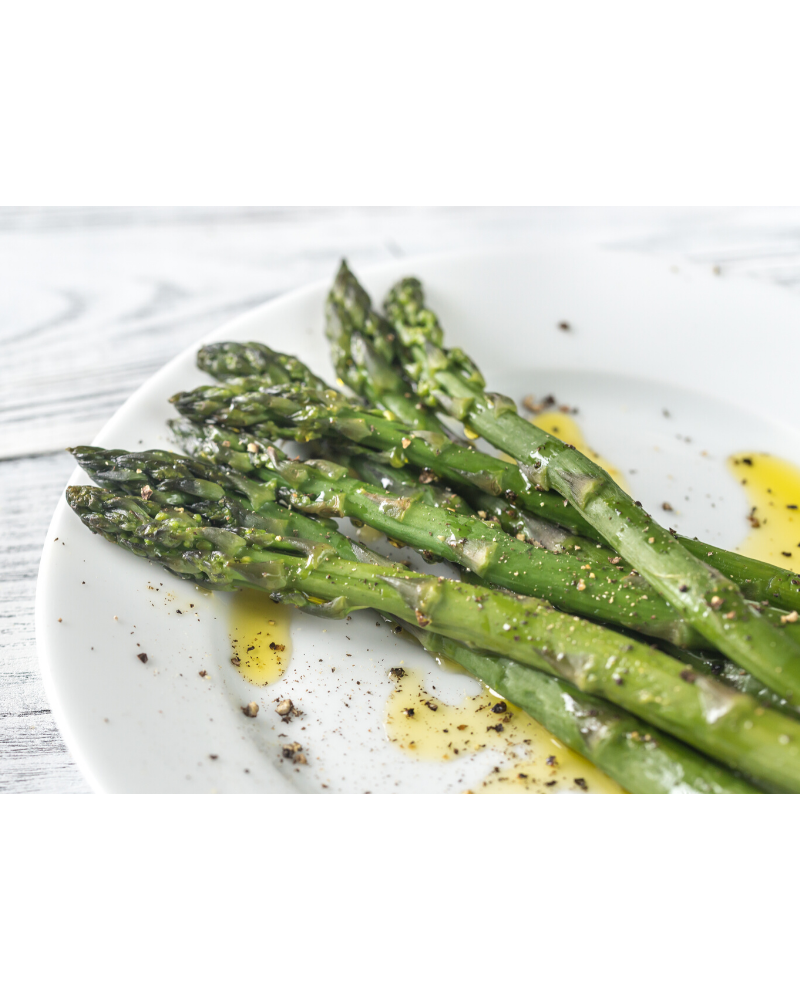 steamed asparagus in the microwave