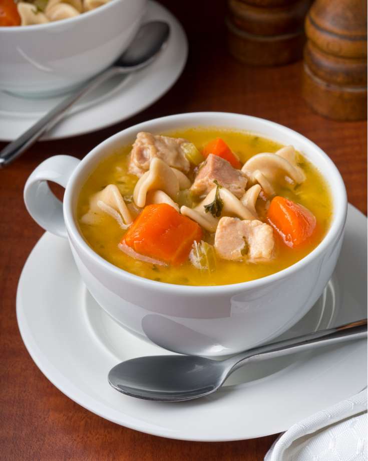 How to Make Chicken Noodle Soup in the Microwave